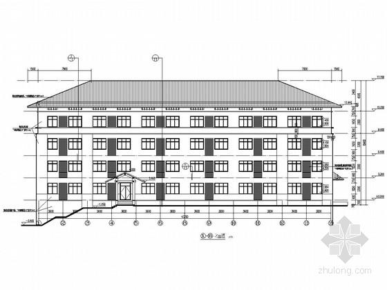 六层框架结构办案点陪护楼结构施工图(含建筑图)