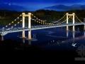 [浙江]跨河悬索桥及匝道桥景观照明设计图28张