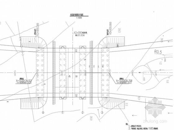 [湖南]三跨净跨15米空腹式板拱桥设计图纸43张(桥宽42m 含景观照明)