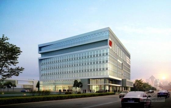 [江苏]方形天窗屋面办公楼规划建筑设计方案文本(含CAD)-方形天窗屋面办公楼规划建筑效果图