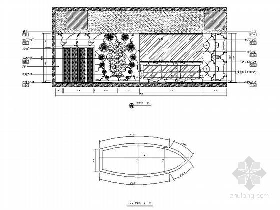 [原创]全国连锁高档特色烤鱼店室内装修施工图(含方案)立面图