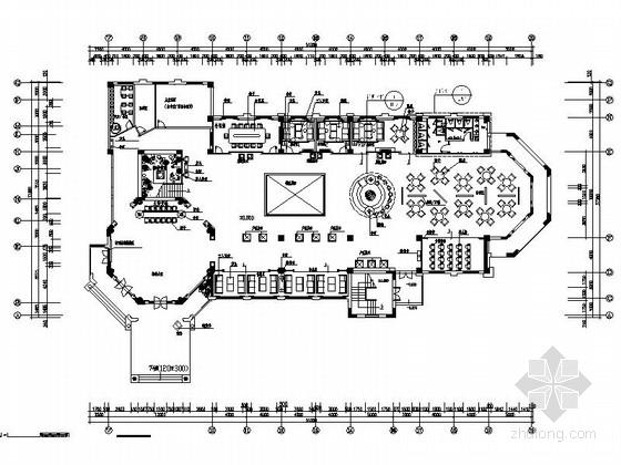 [安徽]花园洋房区奢华欧式售楼中心装修图