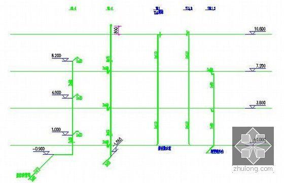 [安徽]教学楼建筑及安装工程量清单计价实例(附图纸及软件文件)-排水系统图