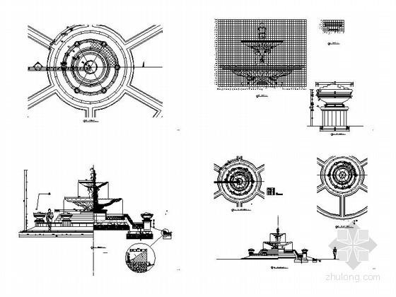 中央广场水景详图设计施工图-总缩略图
