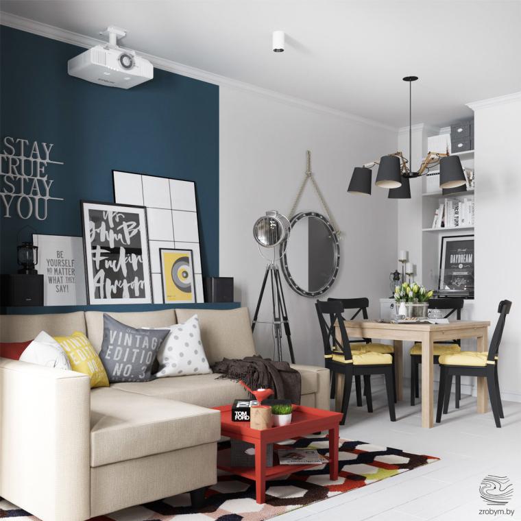 明斯克:丰富有趣的公寓改造_2