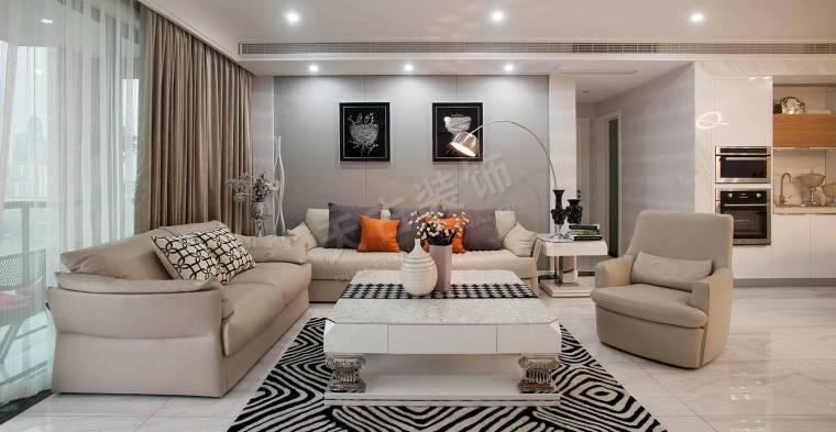 珊瑚水岸现代风格设计实景完工效果图时尚大气的家-图片3.jpg