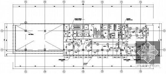[上海]大型综合商业办公楼暖通空调全套施工图-水管及冷媒管平面图