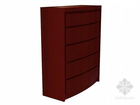 现代中式装饰柜3D模型下载