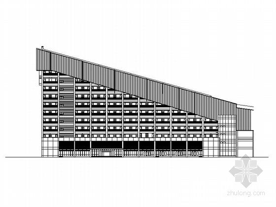 [北京]九层滑雪世界配套会议中心建筑施工图