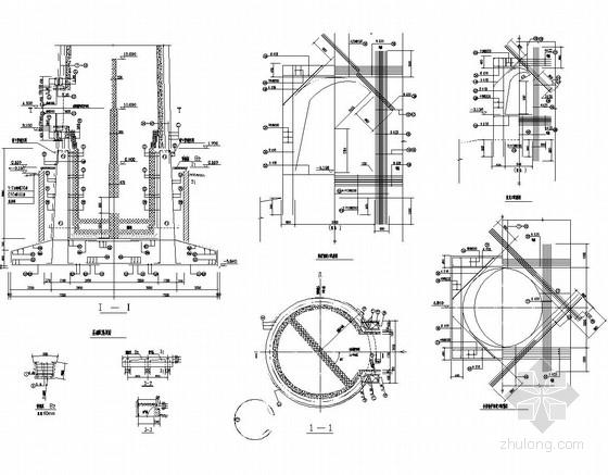 100米烟囱结构施工图