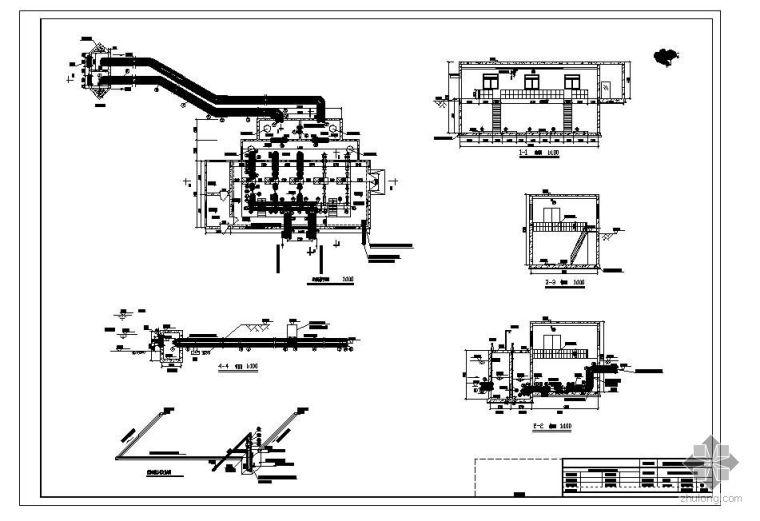 取水泵房施工图工艺设计