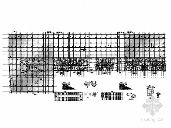 框架结构地下室结构图(人工挖孔桩)
