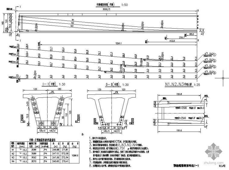 30米新规范预应力混凝土箱梁设计图