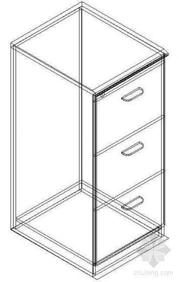 办公家具CAD模型11