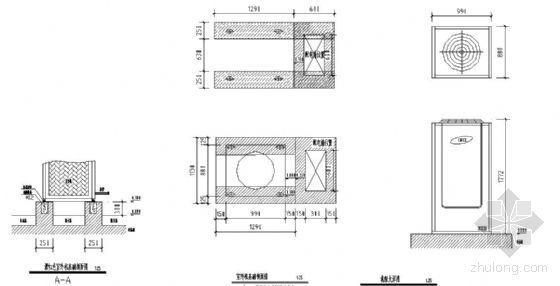 多联式变冷媒流量空调室外机基础做法
