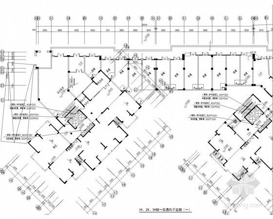 [浙江]高层住宅综合建筑通风防排烟系统设计施工图(人防设计)