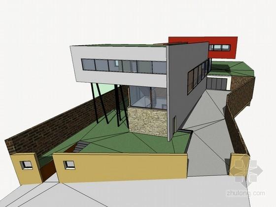[库哈斯]巴黎艾瓦别墅建筑SketchUp模型-