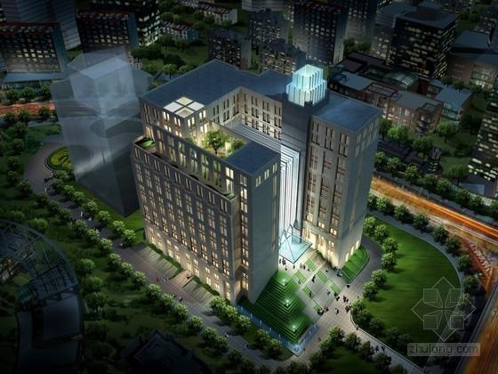 [上海]12层办公楼建筑设计方案文本(含cad 资料齐全 附图丰富)