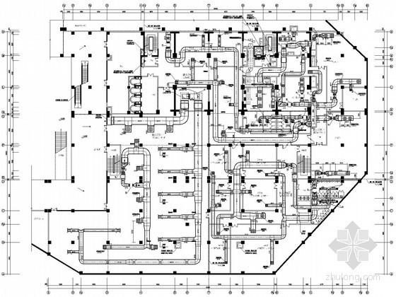 [云南]五星级大酒店空调通风设计全套施工图(施工详图多)