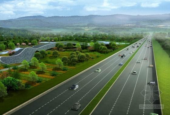 [青岛]2015年高速公路景观绿化工程预算书及招标文件(图纸)
