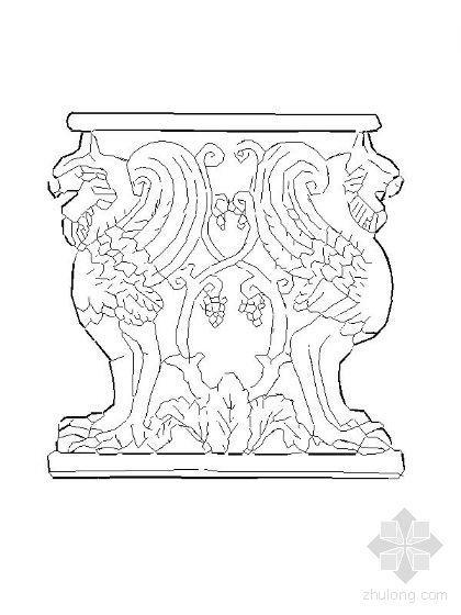 欧式柱立面图块集