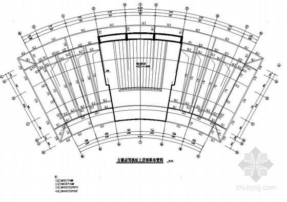 某高层主楼屋面挑板钢构架详图