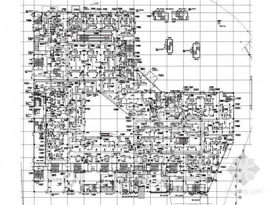 [江苏]多层商业购物中心空调通风及防排烟系统设计施工图(大院出图)