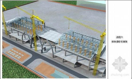 宁夏某火车站站房及雨棚钢结构施工组织设计(索拱桁架 单层网壳 图文并茂)
