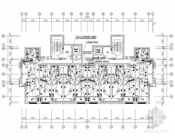 [安徽]高层住宅及商铺强弱电系统设计施工图纸(2015年8月设计完成)