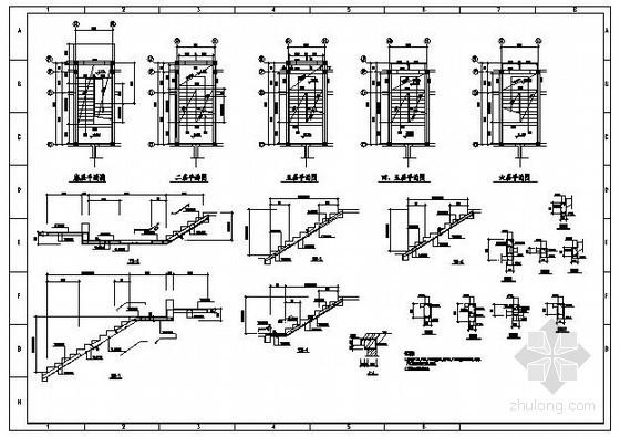 某砖混住宅楼梯节点构造详图