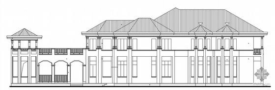 [东莞市]某豪园三期别墅区(A8型别墅)建筑结构水电施工图(含节能