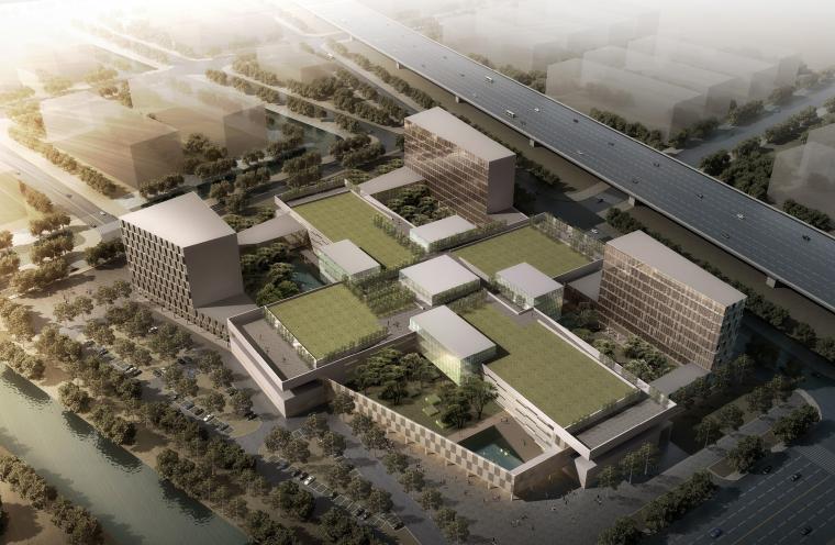 [上海]嘉定中医院现代风格医疗建筑设计方案文本(98张JPG)