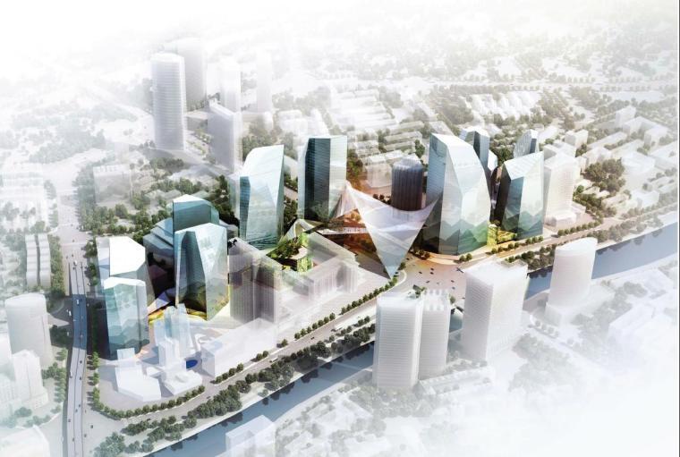 [成都]超高层玻璃立面CBD商务综合楼建筑设计方案文本