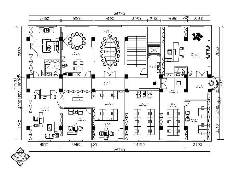 [北京]现代简约高端大气办公空间室内设计施工图(含效果图)