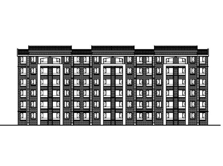 [宁夏]五层砖混结构安置房建筑施工图