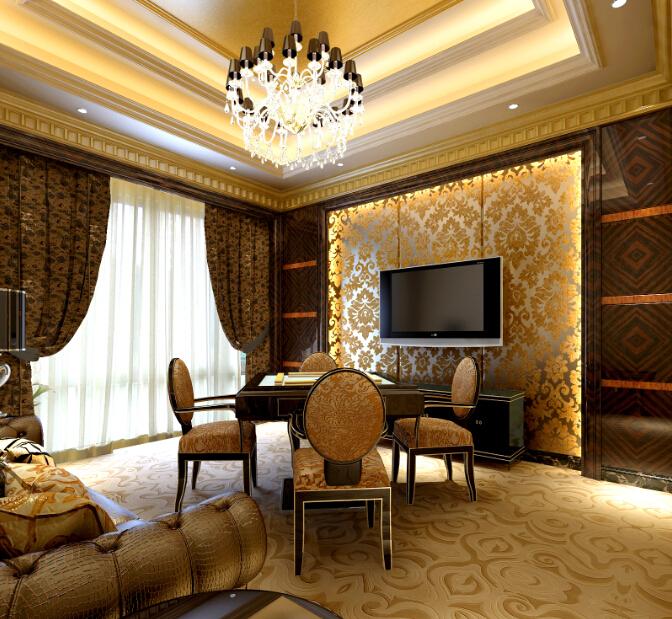 [新疆]欧式奢华高端会所室内设计立面图