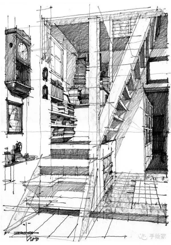 百年经典建筑设计手绘图_17