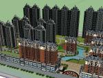 小区建筑体块模型设计