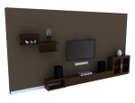现代简洁背景墙3D模型下载