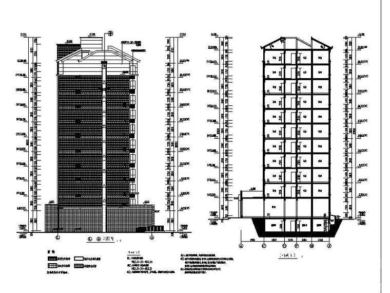 [合集]3套高层塔式商住楼建筑施工图