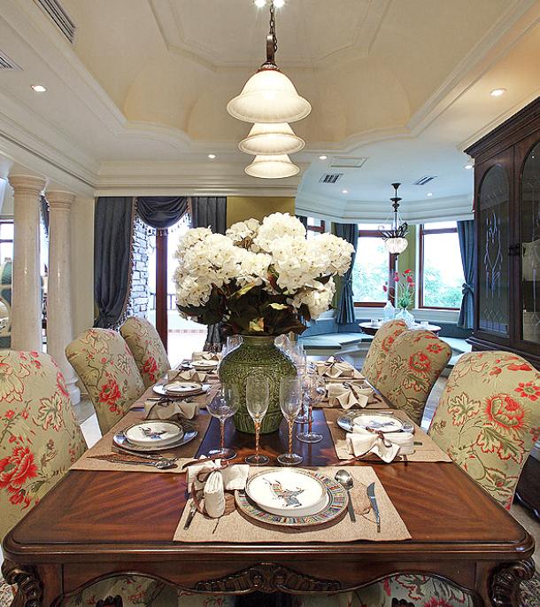 保利高尔夫花园别墅四期室内设计施工图(含实景图)-用餐区实景图