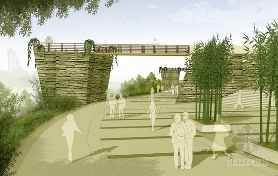 [福建]美轮美奂有机茶博园景观规划设计方案-景观效果图