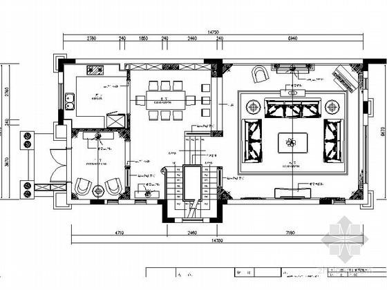 英式古典三层联排别墅室内装饰施工图(含效果)