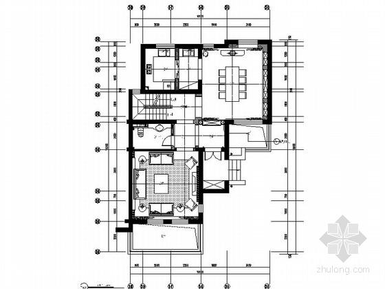 [江苏]优雅细腻的复古情怀别墅样板间施工图(含效果图)