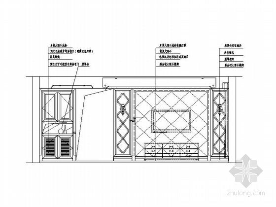 [绍兴]欧式风格三居室家装施工图(含效果图) 立面图