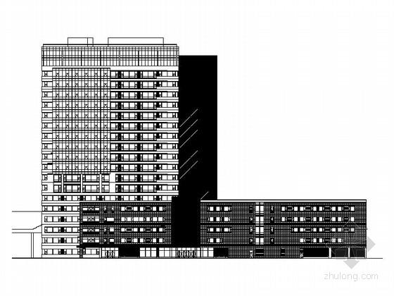 [上海]现代风格高层三级甲等人民医院建筑施工图(知名设计院)