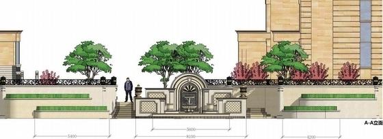 [天津]典雅欧式风情住宅小区附属景观设计方案(超精美效果图)-竖向设计图