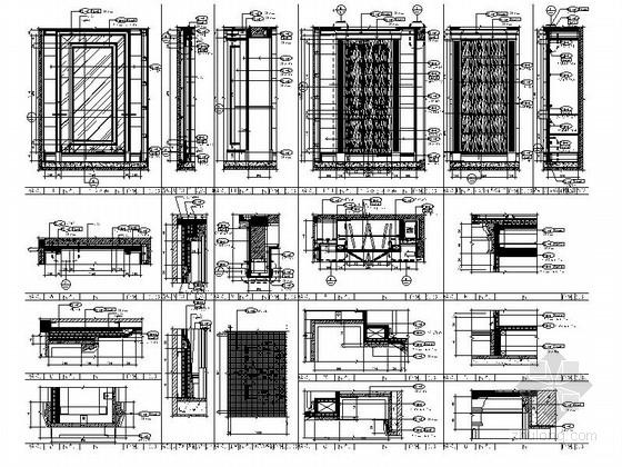 [杭州]欧式顶层大居室样板房设计装修图玄关大样图