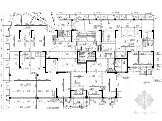 [福建]高层住宅楼及地下室给排水消防施工图(冷凝水系统)