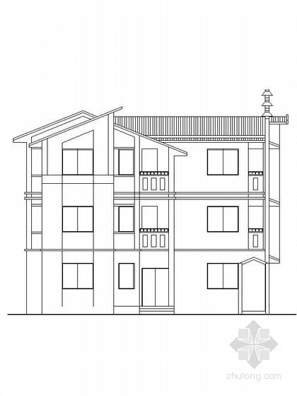 [新农村]3层现代风格家庭独栋别墅设计施工图(含效果图)